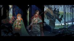 Art of Banner Saga http://kotaku.com/more-stunning-art-from-2013s-prettiest-video-game-1212440248