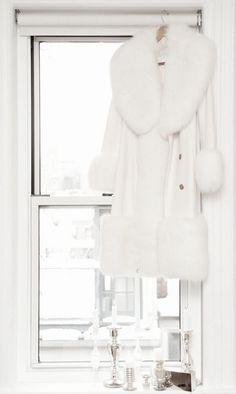 White Faux Fur Coat, White Winter Coat, Winter Coats, Fabulous Furs, White Cottage, Shades Of White, All White, Pure White, Snow White