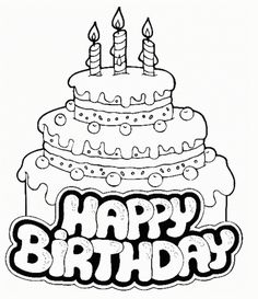 3 Tiers Birthday Cake Coloring Page For Your Little One