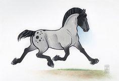 Live, Love, Life by The-SnuffBox on DeviantArt Horse Cartoon, Cartoon Drawings Of Animals, Art Drawings For Kids, Cute Animal Drawings, Avatar Animals, Anime Animals, Creepy Drawings, Horse Drawings, Ride Drawing
