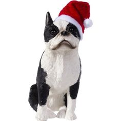Sandicast Boston Terrier with Santa Hat Christmas Ornament >>> You can get more details by clicking on the image.