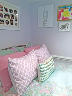 Lavender and Turquoise Girl's Room