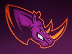 Rhinos by Khisnen Pauvaday | American Logo Sport Theme
