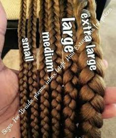 Lengths for long / medium / shorter braids or box braids