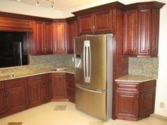 Modern Cherry Wood Kitchen Cabinets cherry wood kitchen cabinets   kitchen decor ideas   pinterest