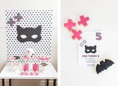 A Batgirl + Bandits Party: HOORAY! magazine