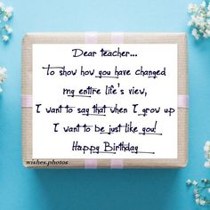 Greet your teacher with the best Happy Birthday Teacher wishes, messages and quotes. These teacher birthday wishes and cards are nice for teacher bday wish Happy Birthday Teacher Wishes, Best Wishes For Teacher, Birthday Quotes For Teacher, Happy Birthday For Her, Happy Birthday Quotes For Friends, Birthday Wishes Quotes, Best Birthday Wishes, Teacher Quotes, Birthday Greetings