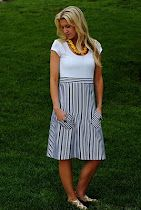 Making this for my trip to KC and probably for a summer staple.  I will make the skirt slightly fuller and drop the waist slightly, Empire waists make me look prego, and we aren't there yet!  I seem to be obsessed with blue and white stripes right now!