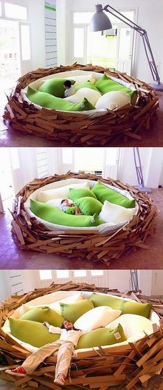Amazing nest bed. I want to snuggle!
