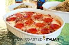 The Slow Roasted Italian: 4 Layer Pizza Dip