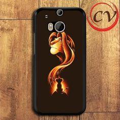 Lion King HTC One M8 Black Case