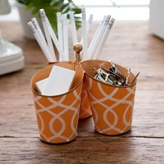 """Pinner wrote, """"See Jane Work has a bunch of really cute office gift ideas, like this desk caddy."""""""