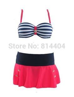 2014 Retro Push-up Pin Up Padded High Waisted Bikini Swimsuit Beachwear Swimwear