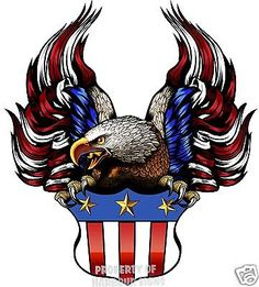Flag Eagle With Crest American Flag Pictures, Patriotic Pictures, Eagle Pictures, Blue Roses Wallpaper, Eagle Wallpaper, Engine Tattoo, Eagle Silhouette, Eagle Painting, Patriotic Tattoos