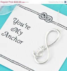 Summer Sale Anchor Infinity Pendant w/gift by TheJewelryGirlsPlace   **Great Maid of Honor gift idea - LOVE.