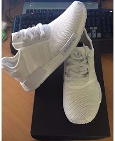 Adidas Mens NMD R1 RUNNER MONOCHROME TRIPLE WHITE Shoes and 10 white  Fashionable Style 412955c9b
