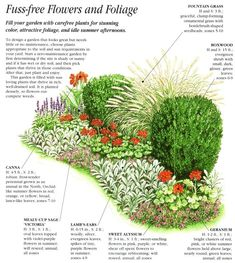 Zero Maintenance Garden Design - for the front walkway garden space. #GardenPlans