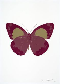 Damien Hirst ~ Framed Souls II - Loganberry Pink/Fuchsia Pink/Cool Gold, 2010