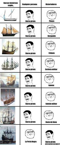 Tipos de barcos.