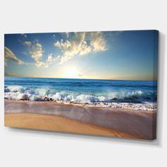 Design Art Designart Sea Sunset Seascape Photography Canvas Art Print - 32 X 16 Abstract Canvas Art, Canvas Art Prints, Thing 1, Online Art Gallery, Design Art, Wall Art, Wall Murals, Fine Art, Artwork