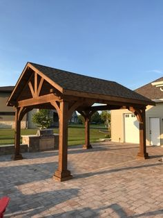 The wooden pergola is a good solution to add beauty to your garden. If you are not ready to spend thousands of dollars for building a cozy pergola then you may devise new strategies of trying out something different so that you can re Backyard Pavilion, Outdoor Pavilion, Backyard Gazebo, Backyard Patio Designs, Outdoor Pergola, Pergola Plans, Outdoor Rooms, Backyard Landscaping, Outdoor Living