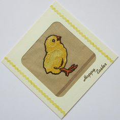 Embroidered Easter Chick Card £1.75