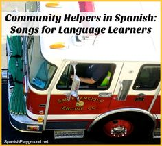 Community helpers in Spanish are fun and easy to learn with these 6 songs. Spanish songs teach kids professions and related verbs, tools and places.