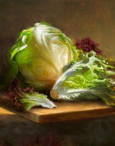 Lettuce Painting  - Lettuce Fine Art Print
