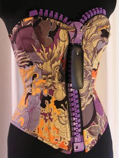 A crazy awesome corset! Oversized zipper detail is incredible!