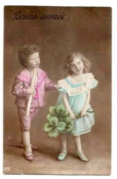 Vintage  LUCKY SHAMROCKS Clovers  CHILDS  by FascinatingHobbies
