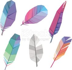 Vector Illustration of Colorful polygonal feather whith transparency. Animal Body Parts, Feather Vector, Free Vector Art, Graphic Design Inspiration, Illustrators, Logo Design, Crafty, Drawings, Colorful
