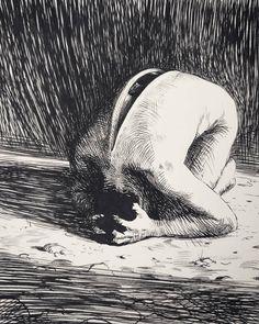 cyberdreamsart: Empathy Miles Johnston/Me Ink and Dip Pen 2019 Dark Art Drawings, Cool Drawings, Miles Johnston, Art Uk, Pen Art, Surreal Art, Art Sketchbook, Art Sketches, Art Inspo