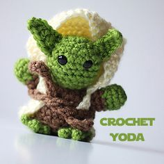 Crochet Yoda. I use him to leave little messages in Yoda-speak for Hubby