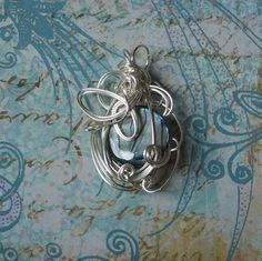 Pendant Necklace  Silver & Abalone Shell by thedreamersgallery