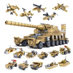 2017 NEW Building Blocks Military Weapons 16 Assemblage1 Super Tanks Self-Locking Bricks brinquedos Toys Compatible Legoe #Affiliate