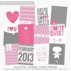 FREE Valentine's Printables! | MissTiina.com {Blog}