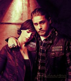"""Jax and Tara Sons of Anarchy Love it or hate it, the FX TV show """"Sons Of Anarchy"""" has a lot of bikers talking. Maggie Siff, Jax Teller, Charlie Hunnam, Sons Of Anarchy Tara, Sons Of Anarchy Tattoos, Divas, Sons Of Anarchy Motorcycles, Live Life Love, Jackson"""