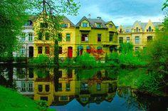 Houses near the Nygårdspark in Bergen, Norway - Photo © Tom Henrik