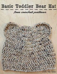 Crochet Toddler Basic Bear Hat