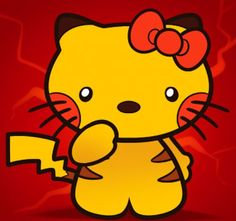 Hello Kitty Pokemon | cartoon cross-over | mash-up | and like OMG! get some yourself some pawtastic adorable cat apparel!