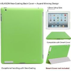 i-BLASON Case for iPad 2 Smart Cover Ultra Slim 1.2mm Green -Award Winning Partner Compatible Companion Skin