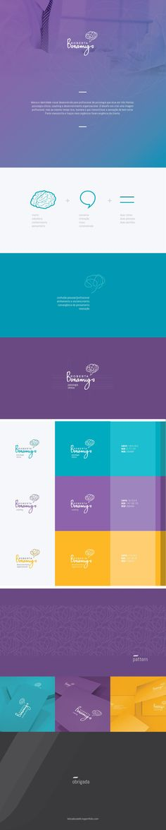 branding Roberta Bonamigo • Psicóloga Coaching on Behance