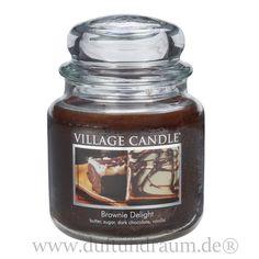 VILLAGE CANDLE® DUFTKERZE BROWNIE DELIGHT 2-DOCHT-KERZE mit 453g