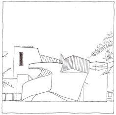 Frank O. Gehry, Vitra Design Museum, Weil am Rhein, Switzerland, 1989 | drawn by Riccardo Salvi