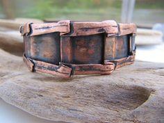 Mens Copper Cuff Bracelet Handmade Copper Jewelry by Gasquetgirl