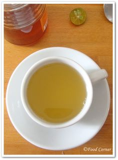 HONEY LIME TEA. Remedy for sore throat or cough.