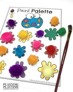 Fun Color Matching Practice! - Back to School Preschool Worksheets Preschool Binder, Preschool Age, Preschool Worksheets, Preschool Activities, Back To School Worksheets, Back To School Activities, Hands On Activities, Learning Through Play, Play To Learn