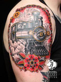 Bildergebnis für tattoo new school griffin Creative Tattoos, Cool Tattoos, Awesome Tattoos, Zug Tattoo, Train Tattoo, Tribute Tattoos, Rose Tattoo On Arm, Header Pictures, Train Art