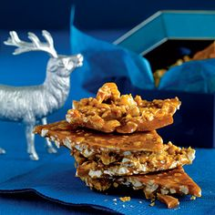 Popcorn Brittle - from Cooking Light - Healthy holiday treat and one of my favs for Christmas bake day