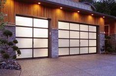 Glass Garage Door: Full View Aluminum & Frosted (Sandblast)
